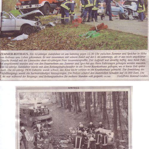 Verkehrsunfall Rothaus 2004
