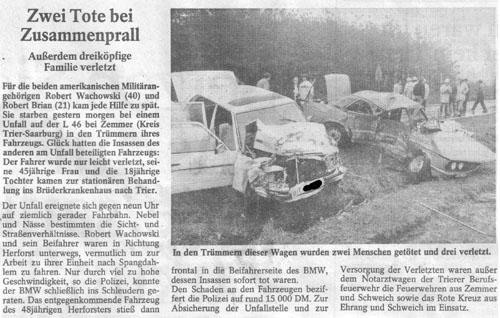 Verkehrsunfall L46 1986