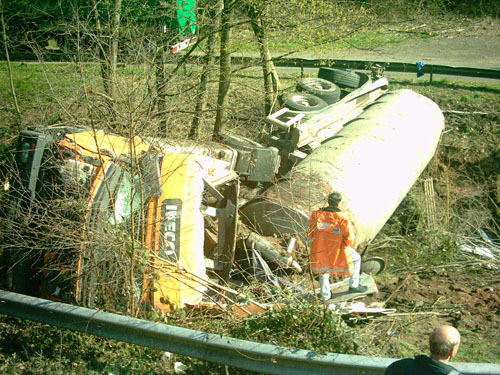 umgestürzter LKW K34 2007