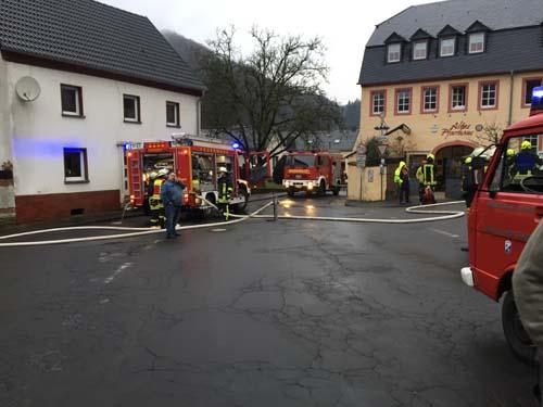Gebäudebrand Auw