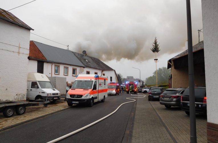 Gebäudebrand Preist