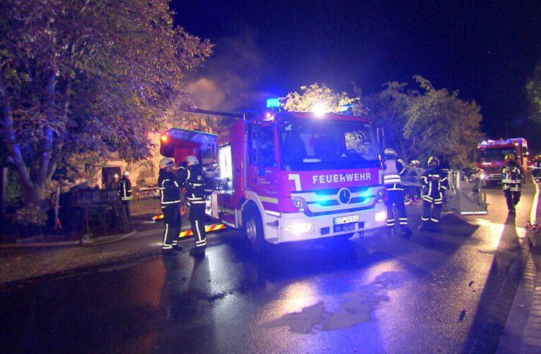 Gebäudebrand Hosten