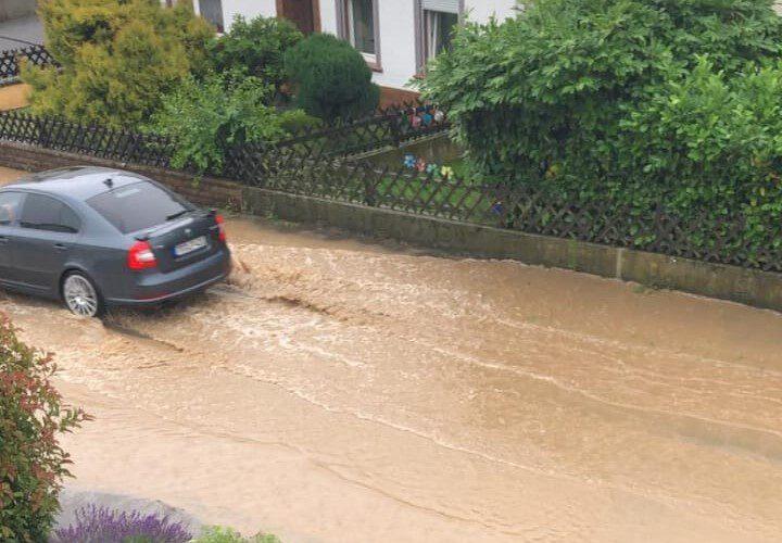 Starkregen Mülchenstrasse