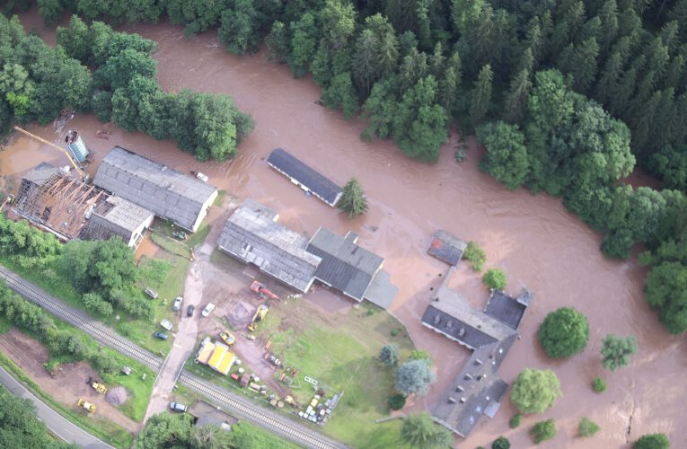 Hochwasser Deimlinger Mühle